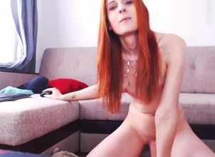 Red-haired  Wanking Off Online