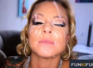 Dual Spunk ON FACE Facial..