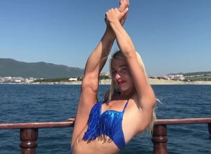 Contortion on the Boat. Triple..
