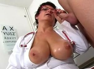 A patient receives a hand job..