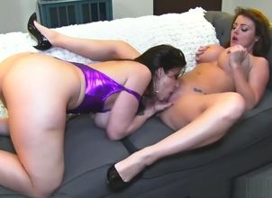 Hard-core  Sophie Dee and Sara..