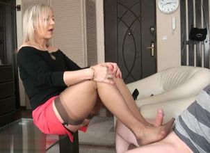 Ala tempts her dude with nylons..