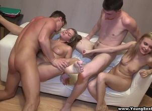Teenager virgin orgy soiree
